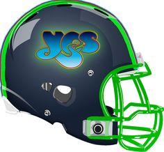 Yes Helmet from a Fantasy Football League