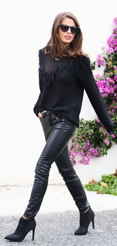 Black Leather Pants by Seams For a Desire