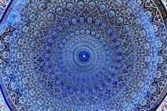 Dome of the mosque, oriental ornaments from Samarkand, Uzbekistan Stock Photo - 3497856