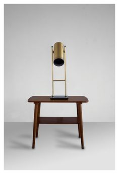 Fog and Morup Trombone brass table lamp designed by by VintageDK, €333.00
