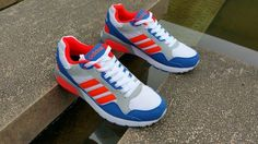 new product 2eb26 f592f 2016 Adidas NEO Run9TIS Suede mesh Casual Blanco rojo  light azul  Corriendo Zapatos hombres Trainers F97919