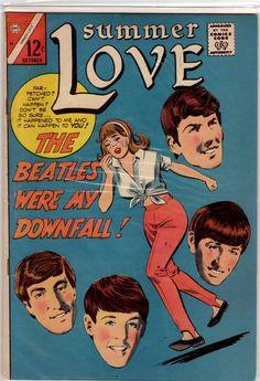 Beatlemaníaca desde eu ainda me surpreendo com fotos incríveis dos Beatles [e que eu NUNCA tinha visto na vida]. Beatlemaniac since I am still surprised by incredible pictures of the Beatles [and that I had NEVER seen in my life]. Vintage Comic Books, Vintage Comics, Comic Books Art, Vintage Posters, Comic Art, Les Beatles, Beatles Art, Beatles Books, Beatles Poster