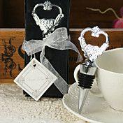 Heart Wine Stopper and Bottle Opener Wedding ... – GBP £ 1.97