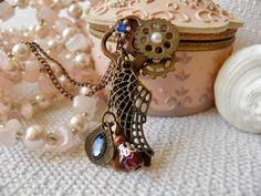 #bohonecklace #Steampunk #Jewelry #Necklace #SkeletonKey #TeenGirlGift  #EtsyHunter #EtsyUSA