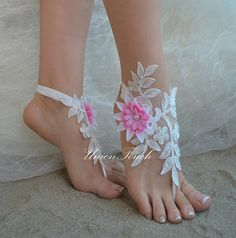Shop for on Etsy, the place to express your creativity through the buying and selling of handmade and vintage goods. Blue Sandals, Bare Foot Sandals, Wedding Shoes, Lace Wedding, Beach Shoes, Anklet, Barefoot, Lace Shorts, Peep Toe