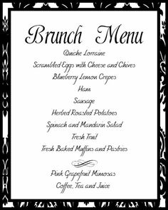 wedding brunch menu google image result for httpphotosweddingbycolor nocookie