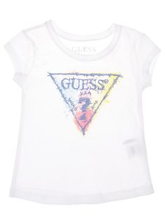 This colourful branded Guess T-shirt is perfect for any little girl. #girlsfashion #kidsfashion #guess