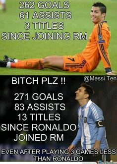 #Ronaldo vs #Messi <--- I don't really get the whole rivalry thing, but it's funny