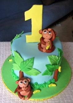 jungle smash cake