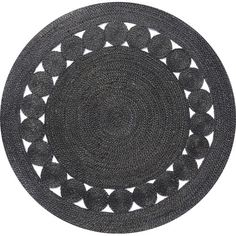 Round Black Rose Rug {would look awesome on the wall behind a bed!}