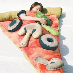 And when the day's over, catch some Zs in this Pizza Sleeping Bag:   10 Party Essentials To Get You Through The Summer