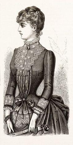 """""""La Mode IIlustree"""" 1885, France"""