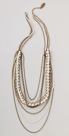 Adia Kibur Chain & Crystal Layered Necklace