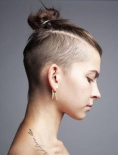undercut ponytail girl - Google Search More
