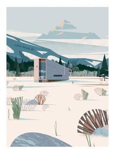 Methow Cabin - Sergeant Paper editions Giclee print sur papier Hahnemulhe German Etching 310 gr | 50x70 cm | Edition limitée à 30 ex - 90€