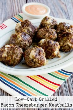 These Low-Carb Grilled Bacon Cheeseburger Meatballs have all the comfort food appeal of bacon cheeseburgers, without the carbs! And this recipe is also Keto, low-glycemic, gluten-free, and South Beach Diet friendly (although definitely an occasional treat for South Beach!) Use the Recipes-by-Diet-Type Index to find more recipes like this one. Click here to PIN this delicious recipe so you…
