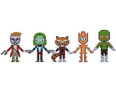 GUARDIANS OF Galaxy Cross stitch Pattern PDF   Boy di POWSTITCH