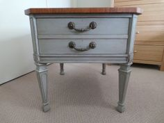 Vintage shabby chic side table with drawer by Clhrestore on Etsy, $295.00