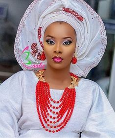 Trending Gele Styles Lovely Designs to wow - Owambe Celebrities World African Attire, African Fashion Dresses, African Dress, Ghanaian Fashion, Nigerian Bride, Nigerian Weddings, African Head Wraps, Natural Wedding Makeup, Bridal Makeup