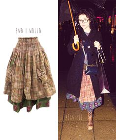 Helena wears skirt by Ewa I Walla in 2011 (no longer available) Folklore mori