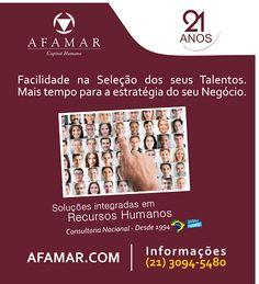 Na #CidadeMaravilhosa você pode contar conosco :)  #RH #PSICOLOGIA = AFAMAR.COM