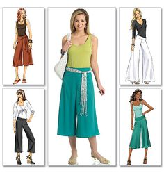 Oh yeah, wide leg pants in different lengths and widths! Perfect for Spring and Summer!