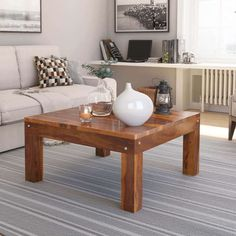 Best solid wood coffee table design ideas to deal with them. It has a round, square, flower-shaped table with different types of wood like mango. . #coffeetable #coffee #interiordesign #homedecor #furniture #coffeetime #coffeeshop #table #design #interior #sidetable #coffeelover #coffeeholic #woodworking #livingroom #coffeeaddict #coffeelovers #decor #diningtable #furnituredesign #mejakopi #coffeehouse #coffeegram #coffeetabledecor #livingroomdecor #home #coffeebreak #architecturesideas Rustic Square Coffee Table, Solid Wood Coffee Table, Coffee Table Design, Coffee Tables, Living Room Decor, Living Spaces, Living Rooms, Rustic Contemporary, Modern