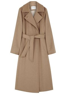MaxMara terracotta camel hair coat