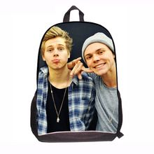 NEW 2014 Fashion Printing 5 Second of summer backpack for teenagers Grade 3-6 Women 5 seconds of summer scool book bags for girl(China (Mainland))