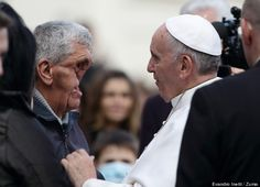 Pope Francis Blesses Man With Disfigured Face Displaying Healing Power Of Love   While many spiritual leaders preach the importance of compassion, Pope Francis gives us all yet another example of what it really looks like to live a compassionate and caring life.