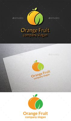 Orange Fruit Logo by design_big Available in EPS PSD & AI 10 Vector format CS format fully editable Easy to change text and color Resizeable Use free font Fo New Fruit, Orange Fruit, Orange Company, Gfx Design, Graphic Design, Juice Logo, Fruit Company, Fruit Logo, Juice Packaging