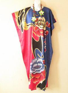 26fb3e6a76 Plus size clothing · Volcanic Nights Floral Batik Dolman Batwing Sheen by  BatikSecret Kaftans, Body Shapes, Tie Dye