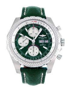At the races within this racing green Breitling Bentley GT A13363