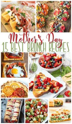 From full meals to light fare, we've got the perfect Mother's Day Brunch recipes for you. 15 Best Mother's Day Brunch Recipes day brunch buffet 15 Awesome Mother's Day Brunch Recipes Collection - A Helicopter Mom Mothers Day Meals, Mothers Day Dinner, Mothers Day Breakfast, Mother Brunch, Brunch Recipes, Breakfast Recipes, Dinner Recipes, Dinner Menu, Holiday Recipes