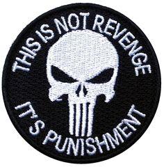 Velcro Punisher Black Jacket Cap Tactical Morale Patch
