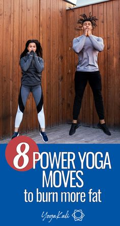 If you're looking for a low-impact cardio flow to challenge yourself and burn more calories without exhaustion, these 8 power yoga moves are exactly what you need. Asana Yoga Poses, Yoga Sequences, Yoga Pictures, Yoga Moves, Yoga Routine, Yoga For Beginners, Yoga Inspiration, Yoga Fitness, Fat Burning