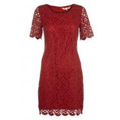 Classic Lace Shift Dress - Clothing
