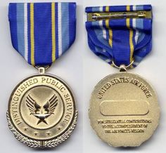 Department of the Air Force Distinguished Public Service Medal.