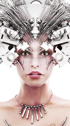 Cybernetic hair pieces are on the rise along with fashionable glasses/goggles.