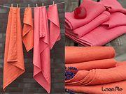 towels in tangerines