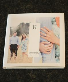 photobook guestbook from artifact uprising filled with engagement photos | alternative guestbook ideas