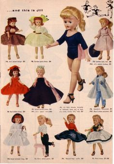 The vogue doll company-Jill doll and clothes, one of my favorite dolls that I had