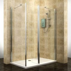 Cooke & Lewis Deluvio Rectangular Shower Enclosure, Tray & Waste LH (W)1200mm (D)800mm: Image 1