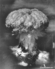 Atomic bomb bursts over Nagasaki, August, 9, 1945