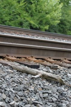 Train tracks near campus