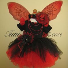 Gothic Spider Fairy Tutu Set Black Red with Top Tutu Costumes, Halloween Costumes For Kids, Costumes Kids, Costume Ideas, Halloween Bridesmaid Dress, Bridesmaid Dresses, Black Fairy, Fairy Clothes, Gothic Fairy