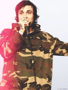 Frank Iero is the only person who's allowed to wear camo.