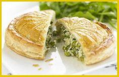 Pea, Tarragon & Cream Cheese Pithivier