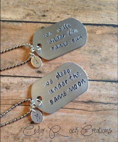 Couples Long Distance Necklace Going Away by CedarRockCreations