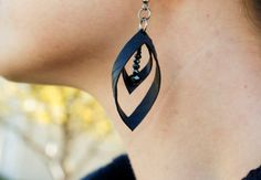 Double Hooped Earring made from upcycled bicycle by HummingWilde, $20.00